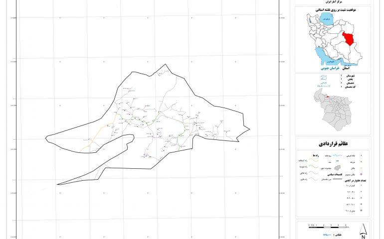 نقشه روستای مصعبی