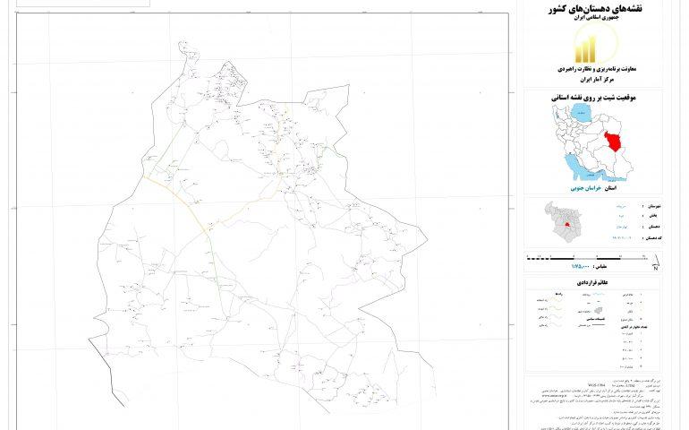نقشه روستای نهارجان