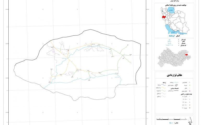 نقشه روستای پارسینه