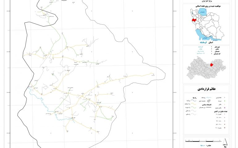نقشه روستای پشت دربند