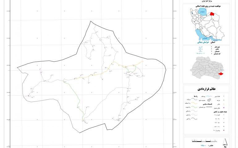نقشه روستای سنگر