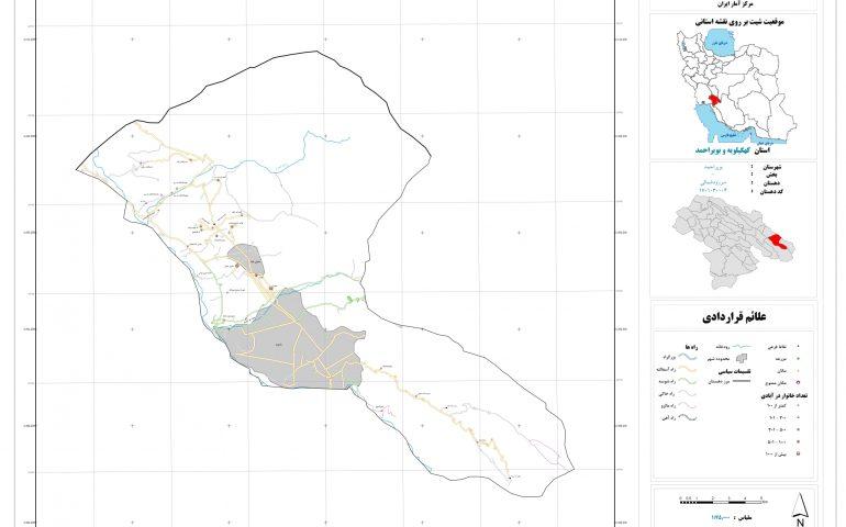 نقشه روستای سررود شمالی