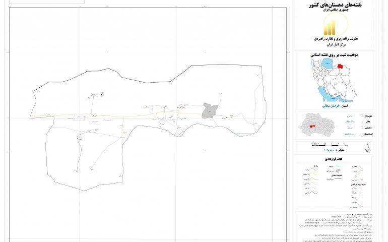 نقشه روستای شوقان