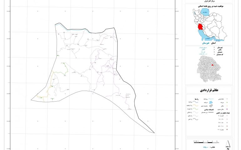 نقشه روستای تل بزان
