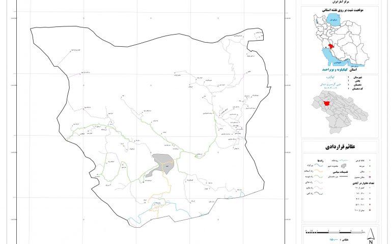 نقشه روستای طیبی گرمسیری شمالی