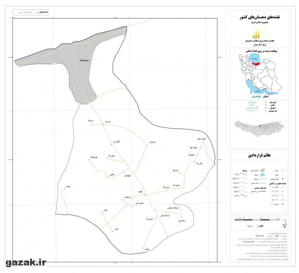ahmalsetagh jonobi 1024x936 - نقشه روستاهای شهرستان محمودآباد