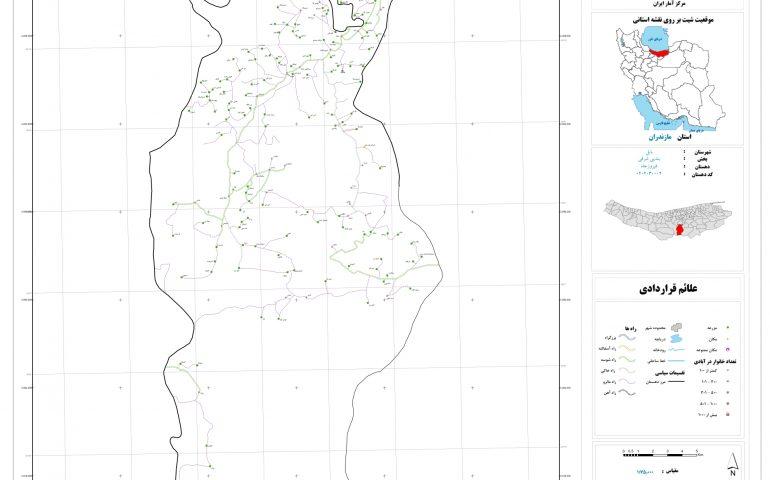نقشه روستای فیروز جاه