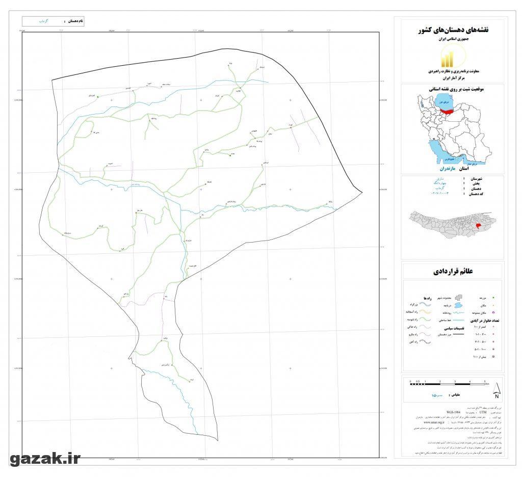garmab 1024x936 - نقشه روستاهای شهرستان ساری