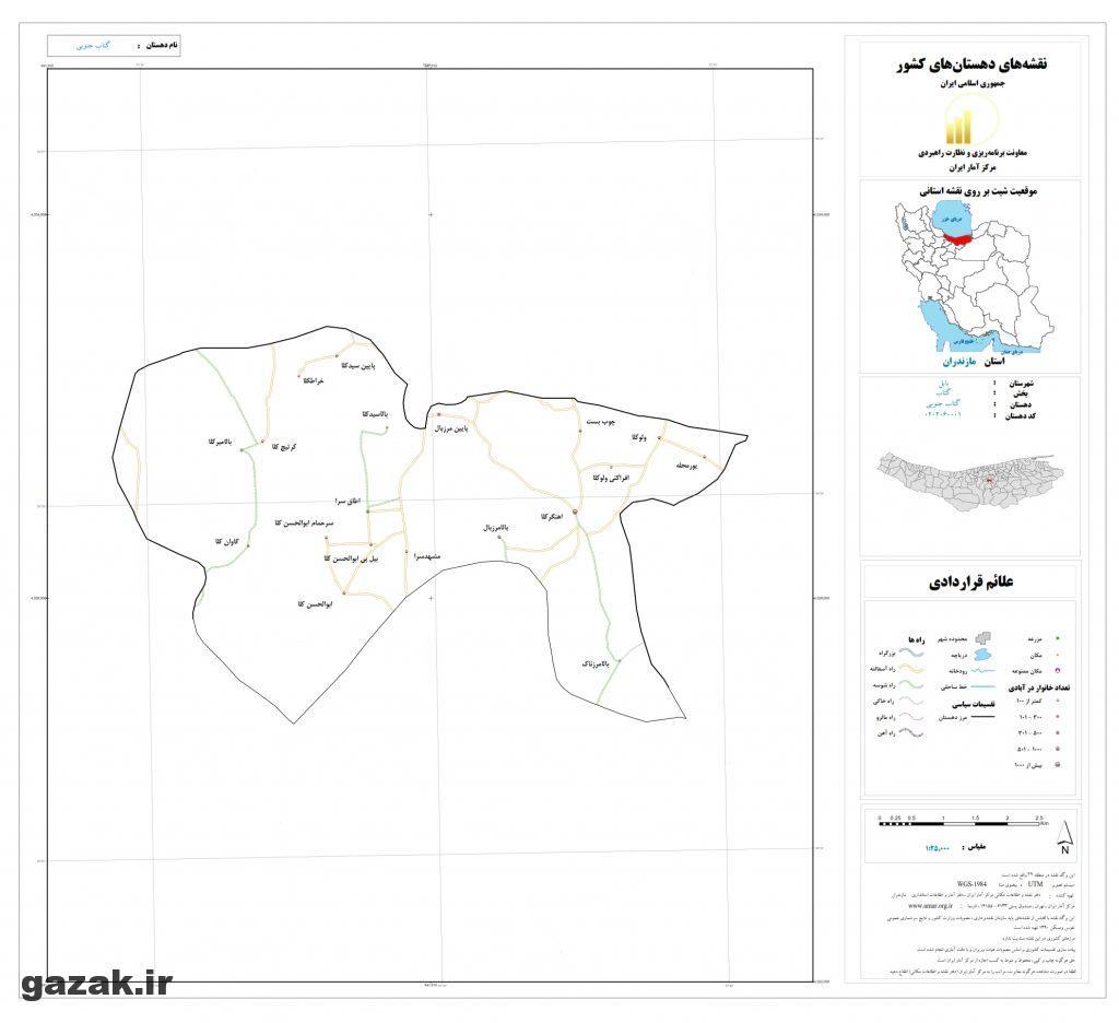 getab jonobi 1024x936 - نقشه روستاهای شهرستان بابل