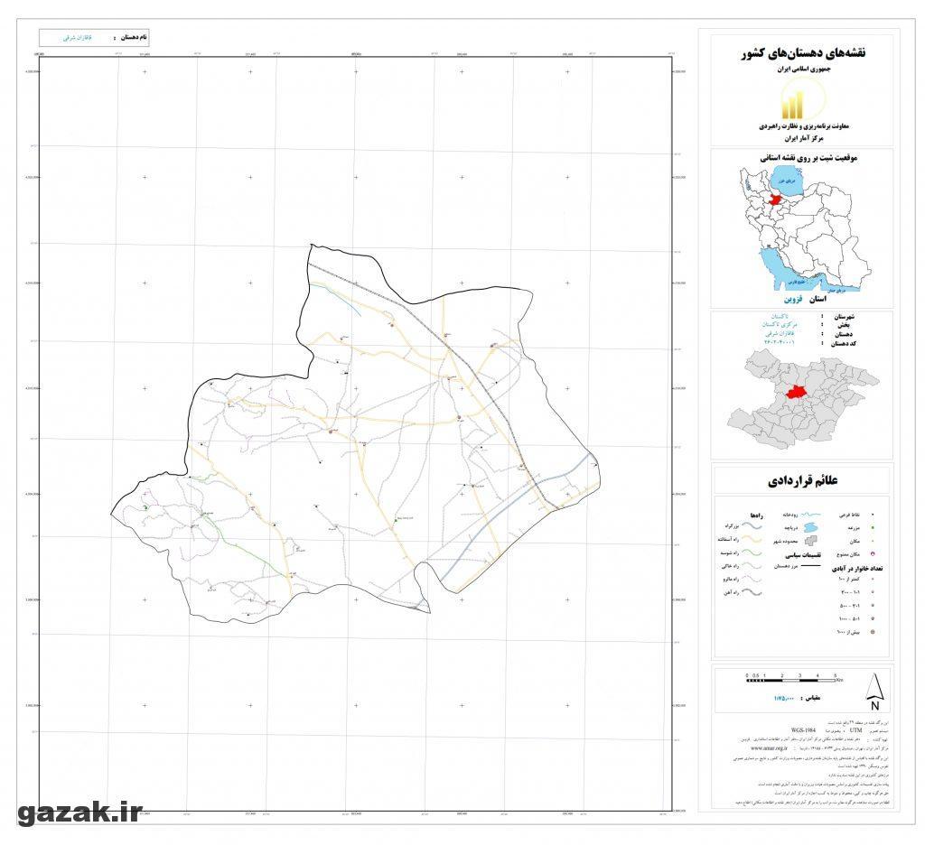 ghagahzan sharghi 1024x936 - نقشه روستاهای شهرستان تاکستان