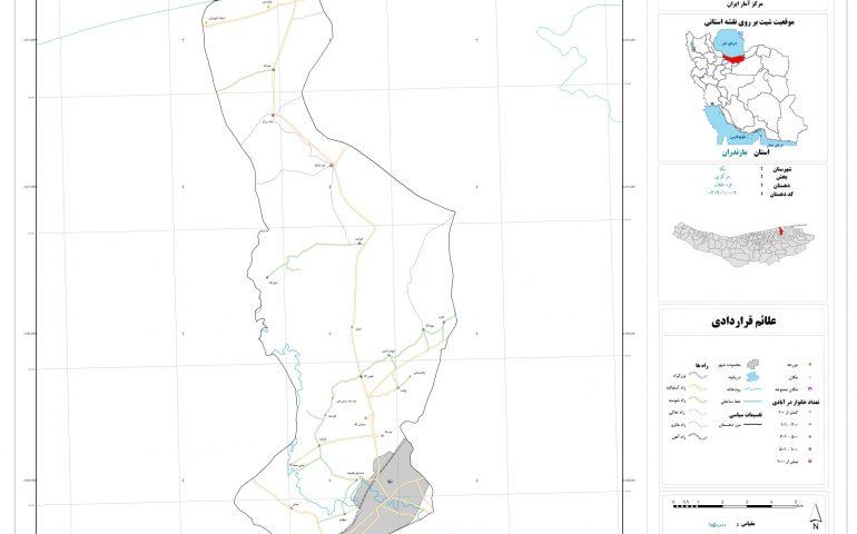 نقشه روستای قره طغان