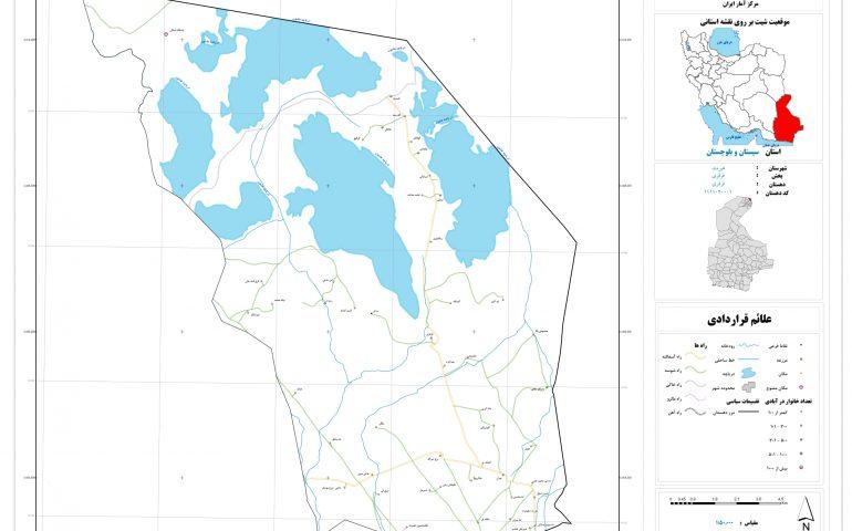 نقشه روستای قرقری