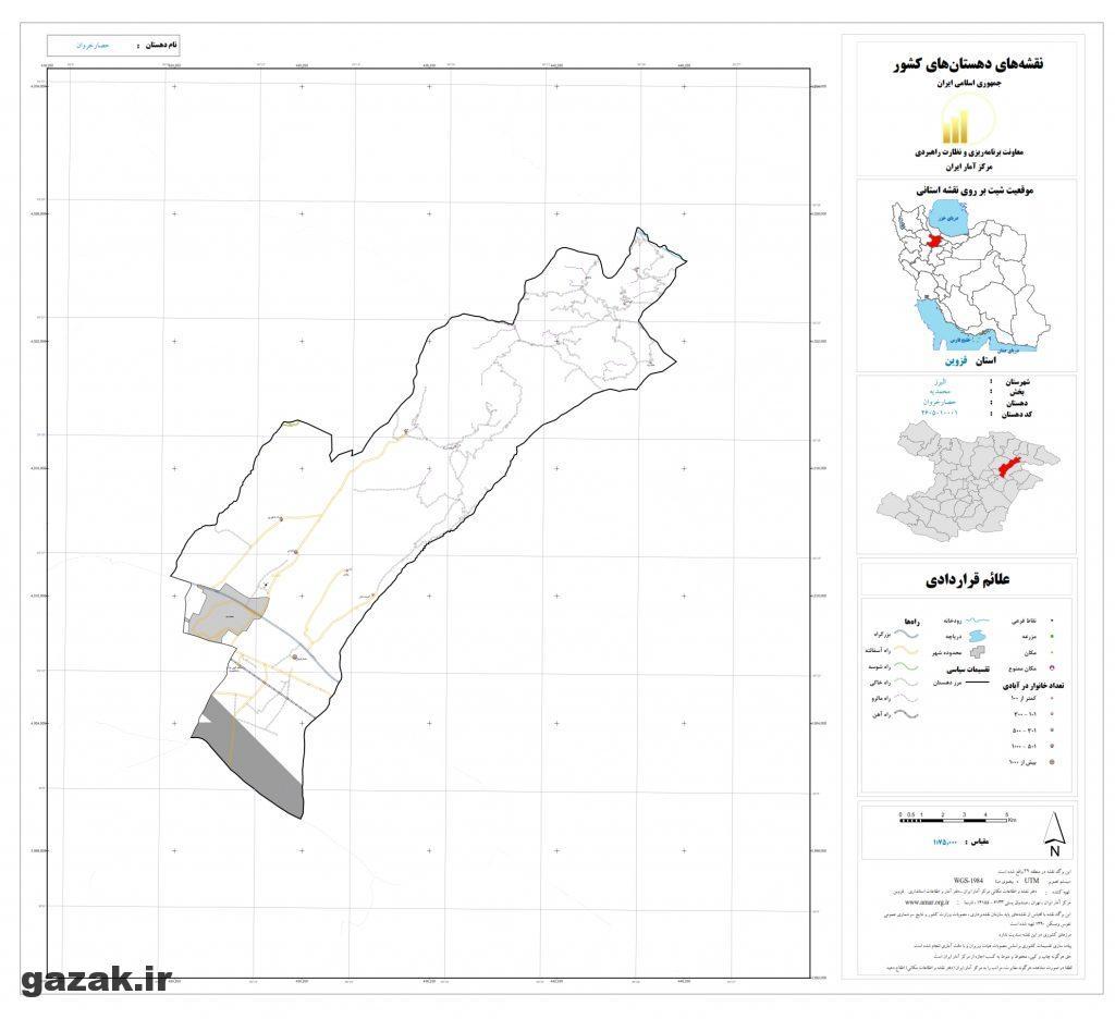 hesar kharvan 1024x936 - نقشه روستاهای شهرستان البرز