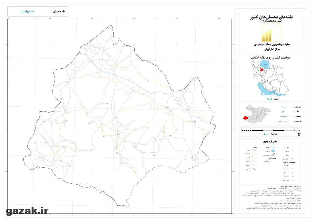 hesar valiasr 1024x724 - نقشه روستاهای شهرستان بوئین زهرا