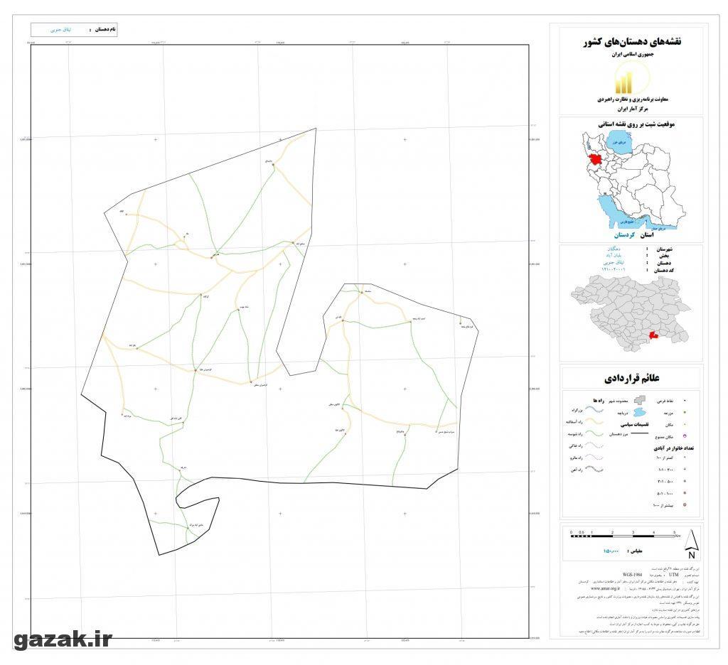 ilagh jonobi 1024x936 - نقشه روستاهای شهرستان دهگلان