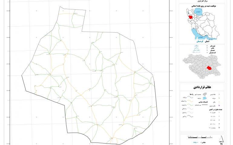 نقشه روستای ئیلاق شمالی