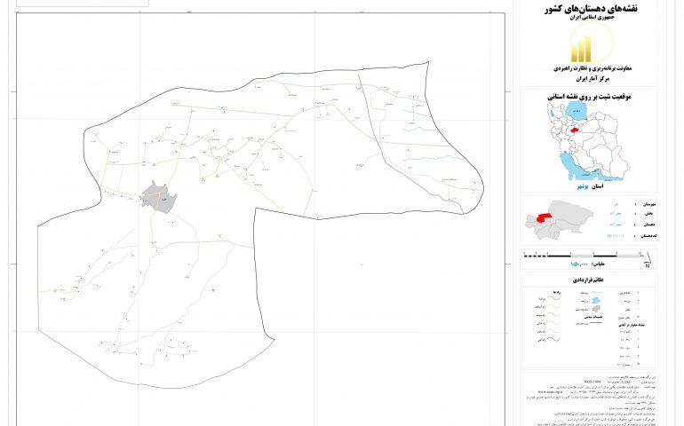 نقشه روستای قنوات
