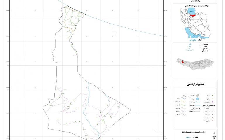 نقشه روستای کترا