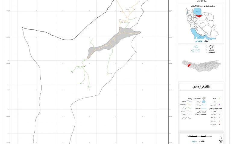 نقشه روستای کلاردشت غربی