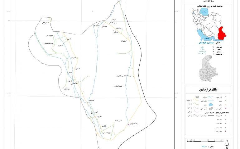 نقشه روستای خواجه احمد