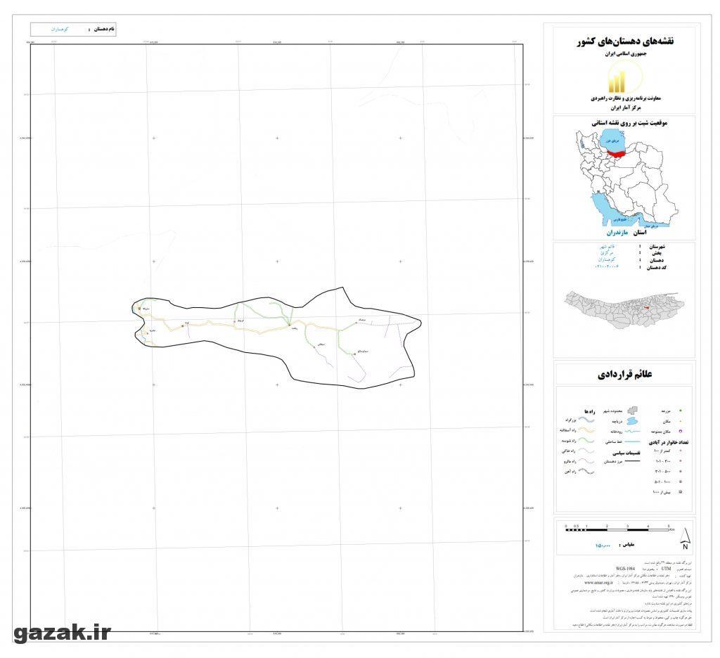 kohsaran 1024x936 - نقشه روستاهای شهرستان قائم شهر