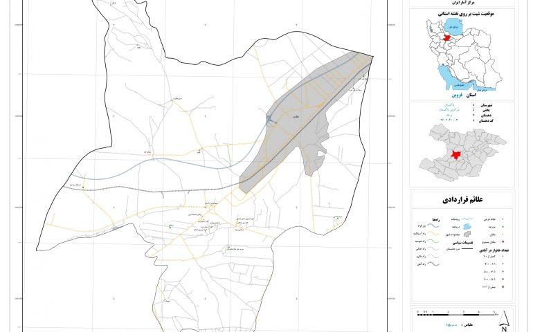 نقشه روستای نرجه