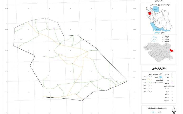 نقشه روستای پیر تاج
