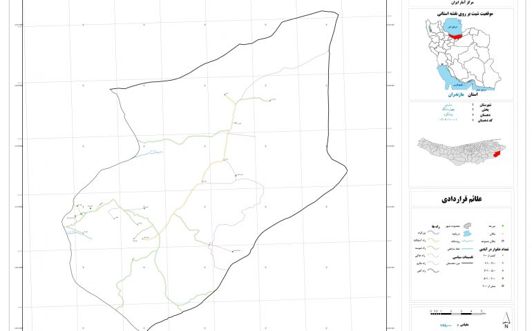 نقشه روستای پشتکوه