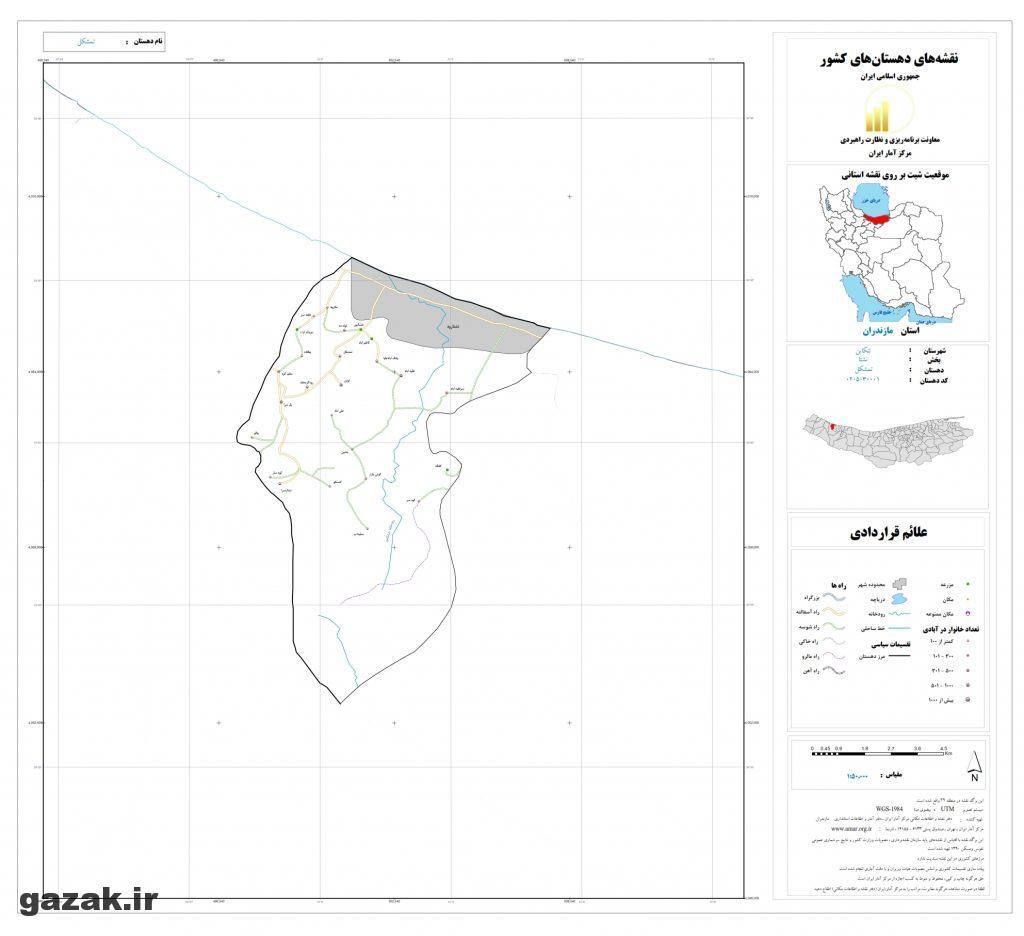 tamshakel 1024x936 - نقشه روستاهای شهرستان تنکابن