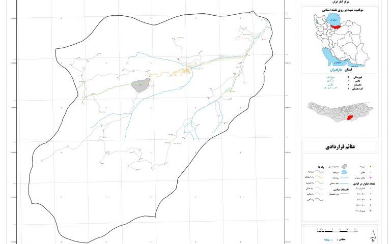نقشه روستای ولوپی