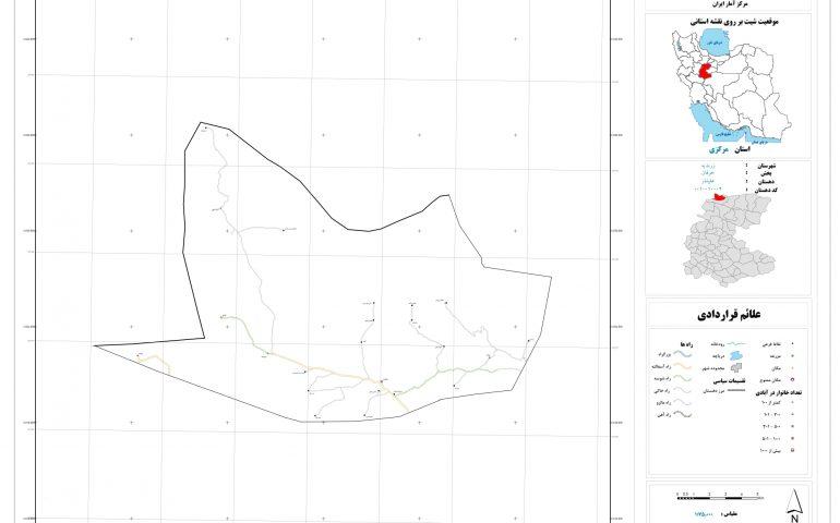 نقشه روستای علیشار