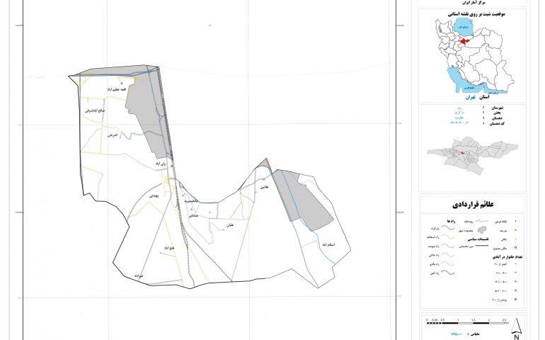 نقشه روستای عظیمیه