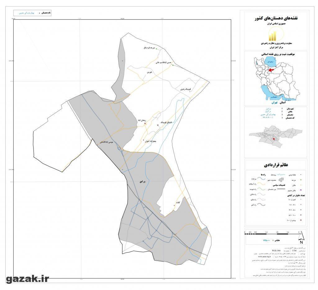 behnam pazoki jonobi 1024x936 - نقشه روستاهای شهرستان ورامین