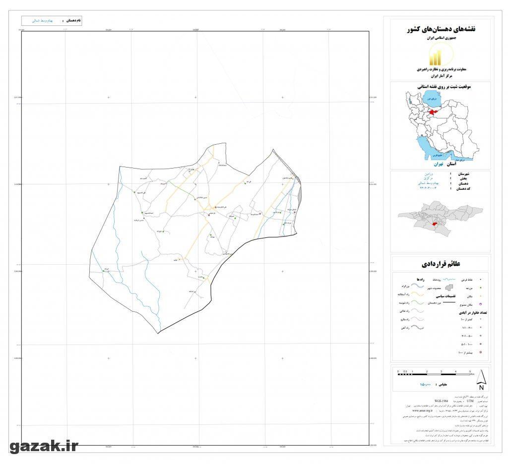 behnam vasat shomali 1024x936 - نقشه روستاهای شهرستان ورامین