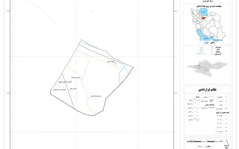 نقشه روستای دانش