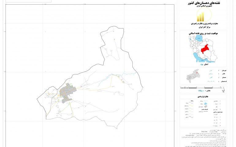 نقشه روستای گلشن