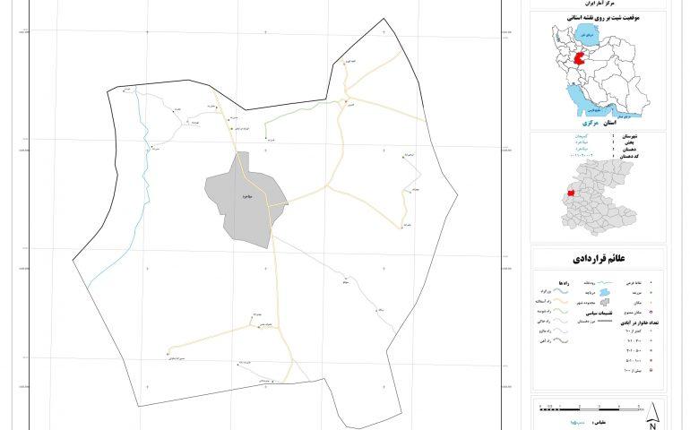 نقشه روستای میلانجرد