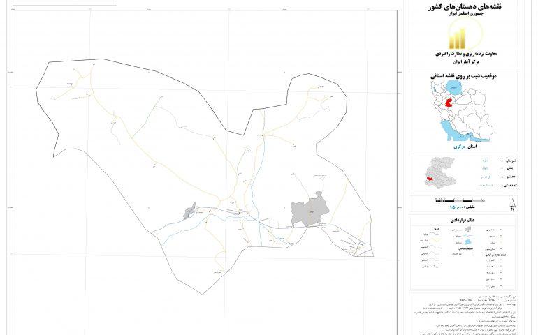 نقشه روستای پل دوآب
