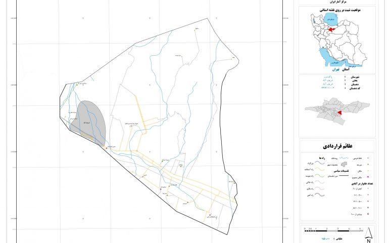 نقشه روستای شریف آباد