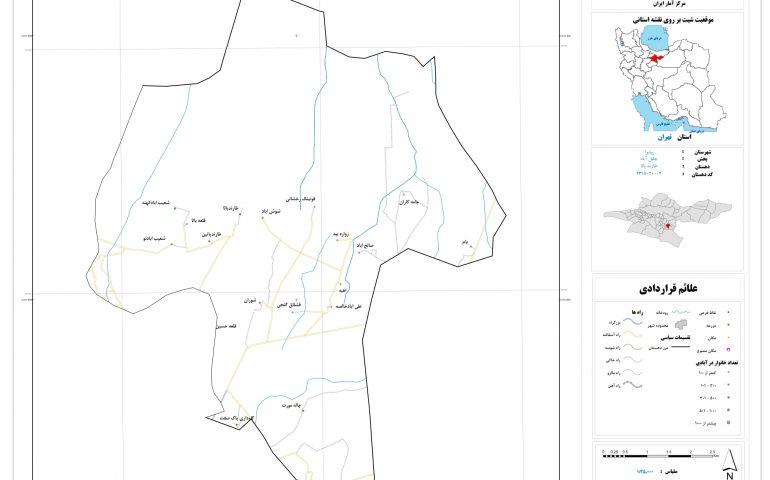 نقشه روستای طارند بالا